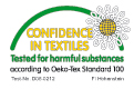 přikrývky a deky ARIA - certifikát EKO-Tex Standard 100